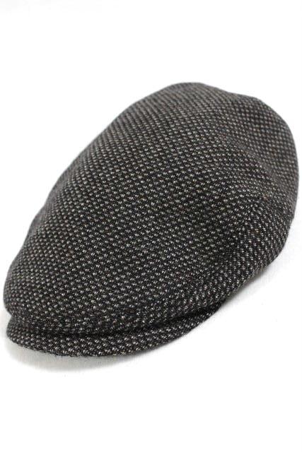 イヴ サンローラン [ SAINT LAURENT ] ツイード ハンチング帽子 グレー ブラウン系 SIZE[58] メンズ レディース ハット 帽子