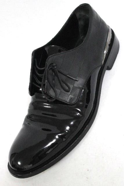 ルイヴィトン [ LOUISVUITTON ] ダミエ カジュアルシューズ ブラック 黒 SIZE[8.5] メンズ エナメル レザー ヴィトン ビトン シューズ