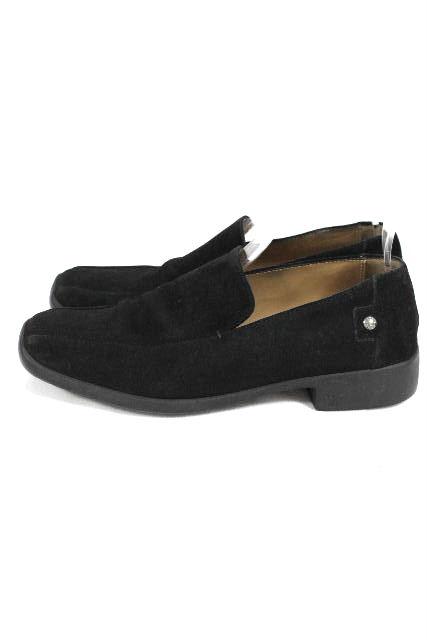 ルイヴィトン [ LOUISVUITTON ] スエード スリッポンシューズ ブラック 黒 SIZE[6] メンズ ヴィトン ビトン ローファー スリップオン 革靴