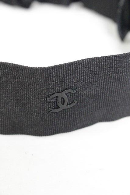 シャネル [ CHANEL ] ココマーク ヘアバンド ブラック 黒 レディース ヘアアクセ ヘアアクセサリー シュシュ