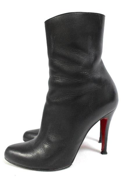 クリスチャンルブタン [ Louboutin ] レザー ショートブーツ ブラック 黒 SIZE[37] レディース ルブタン ブーティ パンプス