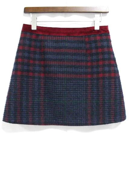 ブルーガール / ブルマリン [ Blugirl ] チェック柄 ウールスカート SIZE[I40 D34] レディース ボトムス ミニ スカート