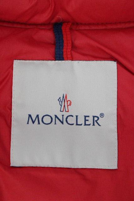 モンクレール [ MONCLER ] フード ダウンベスト レッド 赤 SIZE[104cm 4A] キッズ ベビー 子供用 ダウンジャケット ジレ アウター トップス