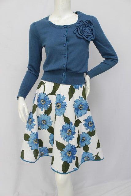 エムズグレイシー [ MS GRACY ] コサージュカーディガン フレアースカート セットアップ レディース ワンピース フラワー 花柄