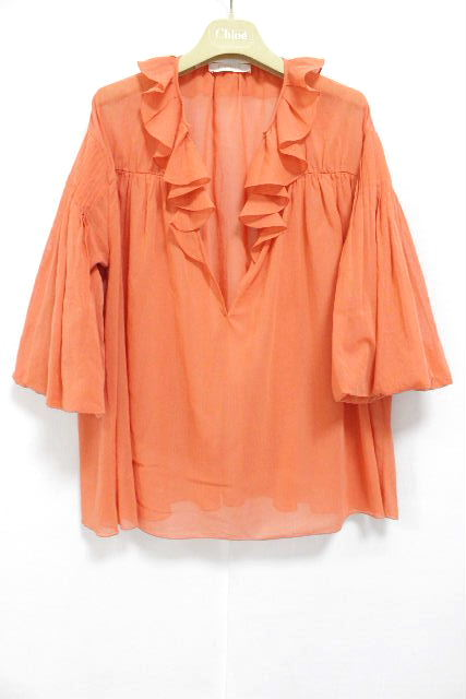 クロエ [ Chloe ] フリル オーバー チュニック ブラウス オレンジ SIZE[36] レディース トップス シャツ