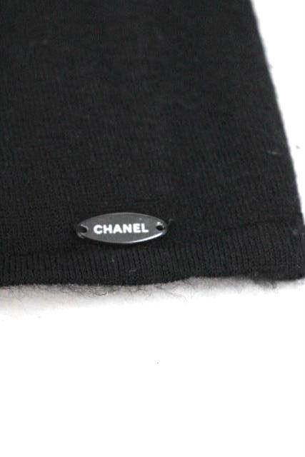 シャネル [ CHANEL ] 07P カシミヤ チェーン リボン ニットセータ- 黒 SIZE[38] レディース トップス ノースリーブ
