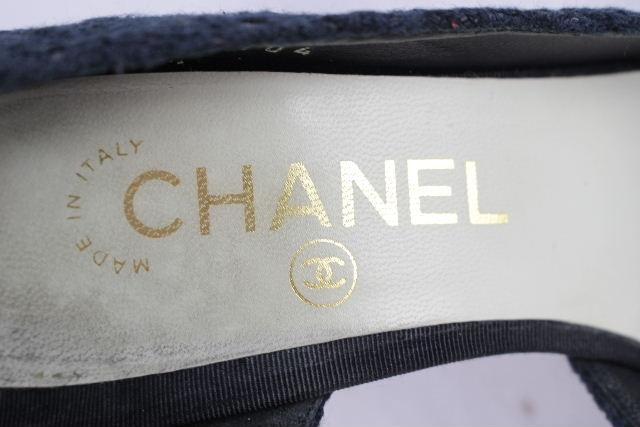 シャネル [ CHANEL ] ツイード レース レザー パンプス ブラック 黒 SIZE[36c] レディース ヒール シューズ 靴