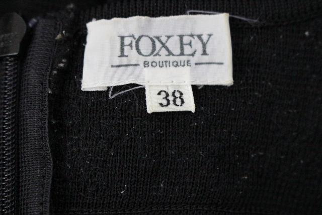フォクシー [ FOXEY ] レース ニット ワンピース ブラック 黒 SIZE[38] レディース ワンピ