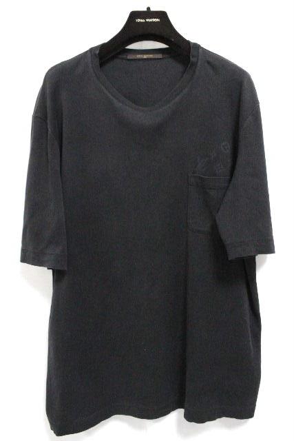 ルイヴィトン [ LOUISVUITTON ] モノグラム ポケット Tシャツ ブラック 黒 半袖 SIZE[XXL] メンズ コート ビトン ヴィトン カットソー