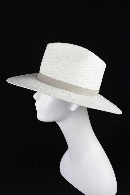 ジャネッサレオン [ JANESSA LEONE ] 中折れ ストローハット ホワイト 白 SIZE[M] レディース 麦わら帽子