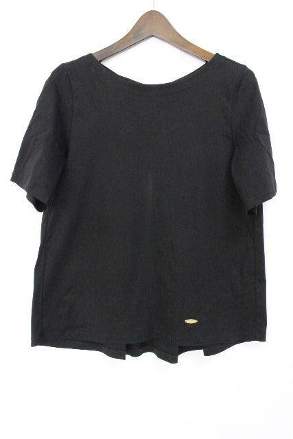 ブルーレーベルクレストブリッジ [ BLUELABEL] リボン プルオーバー カットソー ブラック 黒 SIZE[38] レディース トップス Tシャツ