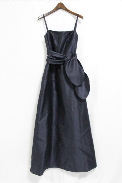 マックスマーラ [ MaxMara Pianoforte ] リボンリボン ドレス ネイビー 紺色 SIZE[38] レディース ロングワンピース ワンピ