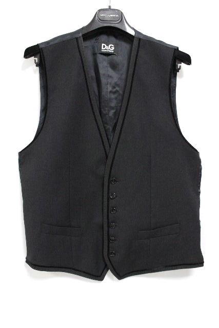D&G [ ディー&ジー ] ベスト ブラック 黒 SIZE[50] メンズ ドルチェ&ガッバーナ ドルガバ ジレ トップス