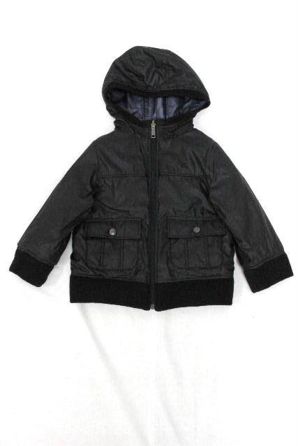 バーバリーロンドン [ BURBERRY ] リバーシブル 中綿ダウン ブルゾン ブラック 黒 SIZE[100A] キッズ 子供用 男の子 ジャンパー ジャンバー