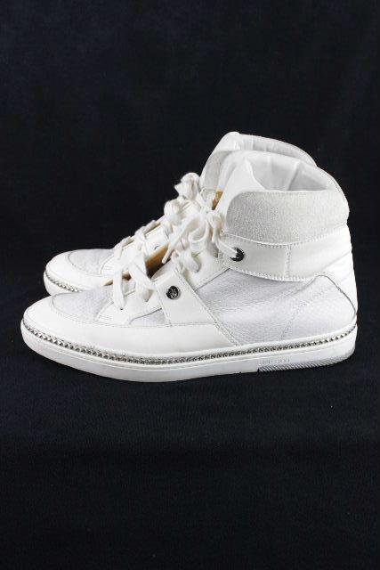 ジミーチュウ [ JIMMY CHOO ] スタッズ ハイカット スニーカー ホワイト 白 SIZE[42] メンズ スニーカー シューズ 靴