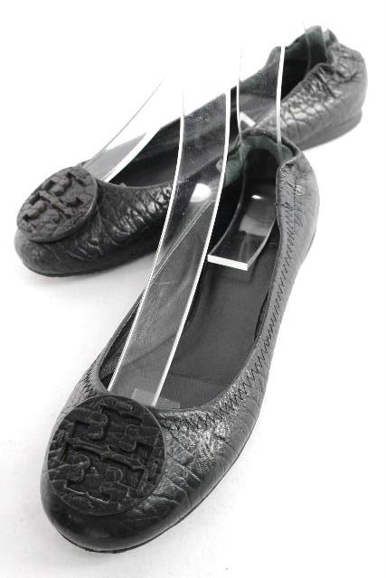 トリーバーチ [ TORY BURCH ] レザー バレエシューズ ブラック 黒 SIZE[7M] レディース バレーシューズ フラットシューズ
