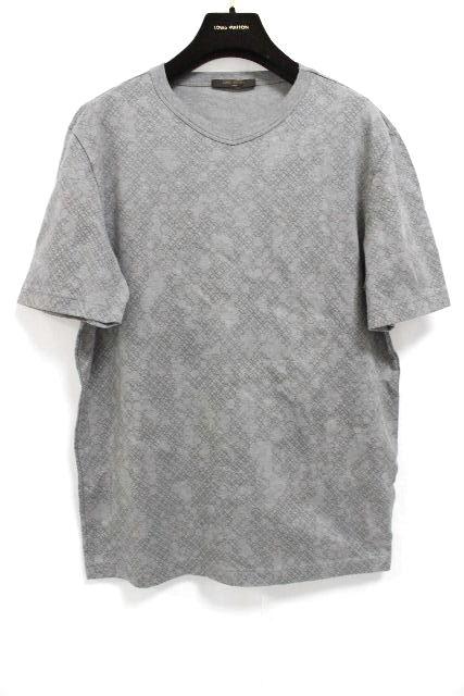ルイヴィトン [ LOUISVUITTON ] モノグラム柄 カットソー グレー 半袖 SIZE[M] メンズ トップス Tシャツ ヴィトン ビトン