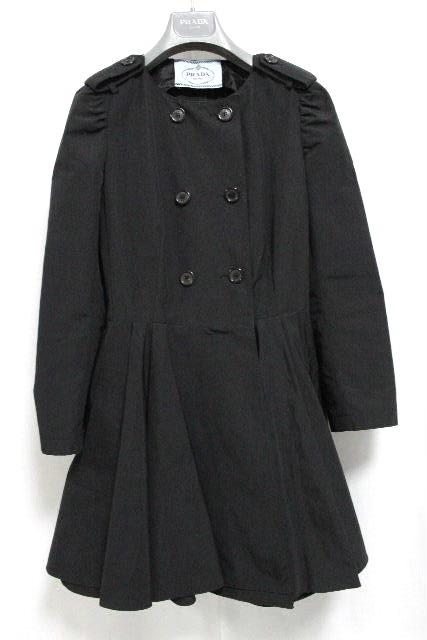 プラダ [ PRADA ] トレンチコート ブラック 黒 SIZE[36] レディース アウター フレアーコート コート