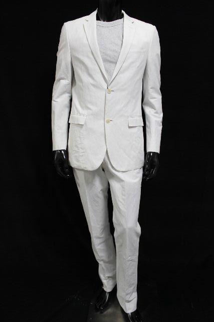 バーバリーブラックレーベル [ BURBERRY ] リネン カジュアル セットアップ スーツ ホワイト SIZE[L] メンズ バーバリー ジャケット パンツ 麻