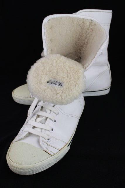 ディオールオム [ Dior ] ムートン ボア ハイカット スニーカー ホワイト SIZE[43] メンズ ディオール ブーツ 27cm相当(目安)