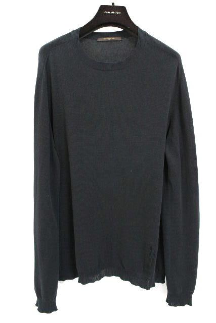 ルイヴィトン [ LOUISVUITTON ] LVロゴ ニット セーター ブラック 黒 中袖 SIZE[M] メンズ トップス カットソー ヴィトン ビトン