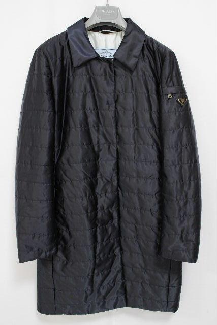 プラダ [ PRADA ] プレート 中綿 ダウンコート ネイビー 紺色 SIZE[40] レディース アウター ダウンジャケット