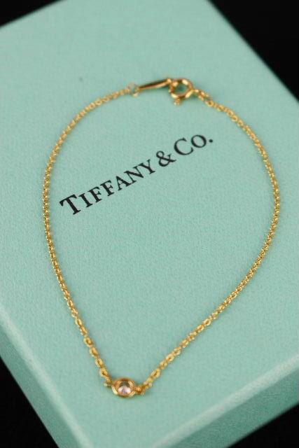 ティファニー [ TIFFANY ] ペレッティ バイザヤード ブレスレット 1Pダイヤ K18YG レディース アクセサリー バングル ブレス