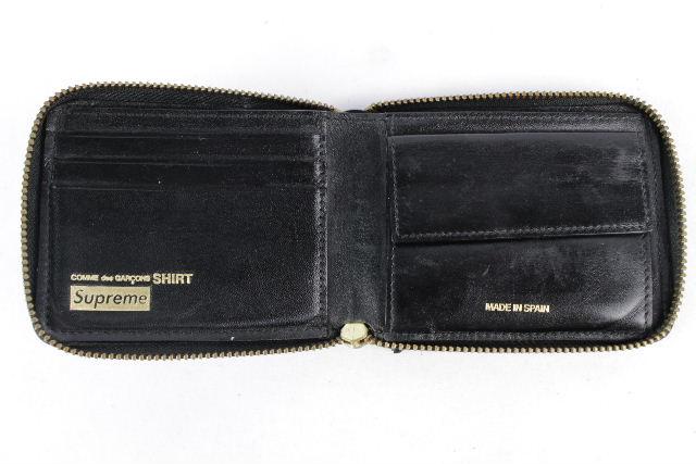 シュプリーム SUPREME ×コムデギャルソン 14ss ドット柄 コンパクト ジップ 財布 ブラック 黒 メンズ レディース ギャルソン