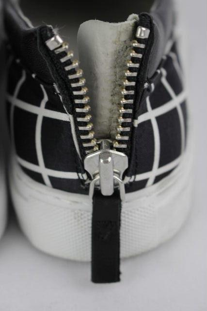 エンポリオアルマーニ [ ARMANI ] チェック柄 スリップオン スニーカー 黒 SIZE[25cm 25.5cm] メンズ アルマーニ スリッポン シューズ