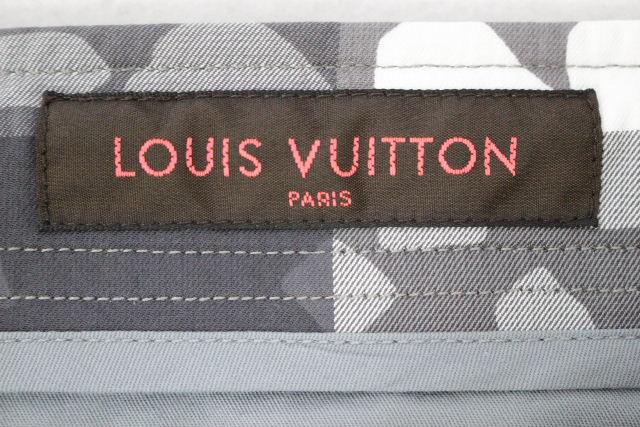 ルイヴィトン [ LOUIS VUITTON ] チェック柄 グラフィティ ハーフパンツ SIZE[42] メンズ ボトムス ヴィトン ビトン ショートパンツ 短パン