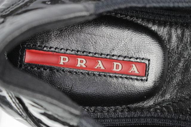 プラダスポーツ [ PRADA ] エナメル バレエシューズ ブラック 黒 SIZE[35.5] レディース プラダ スニーカー バレーシューズ フラット
