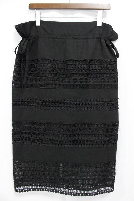 アドーア [ ADORE ] リボン レース ロングスカート ブラック 黒 SIZE[38] レディース ボトムス スカート