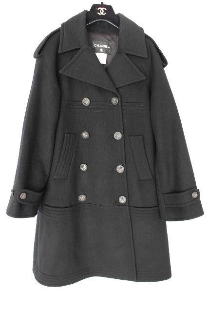 シャネル [ CHANEL ] 12AW ウール コート ブラック 黒 SIZE[36] レディース アウター ジャケット