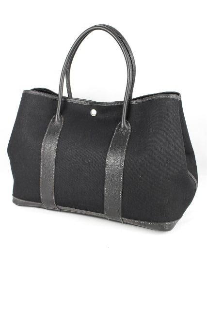 6a13109cb842 エルメス [ HERMES ] ガーデンパーティー PM ブラック 黒 [H刻印] レディース トートバッグ バッグ