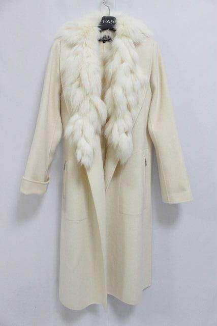 フォクシー [ FOXEY ] フォックスファー カシミヤ コート オフホワイト SIZE[F] レディース アウター 2WAY コート ジャケット