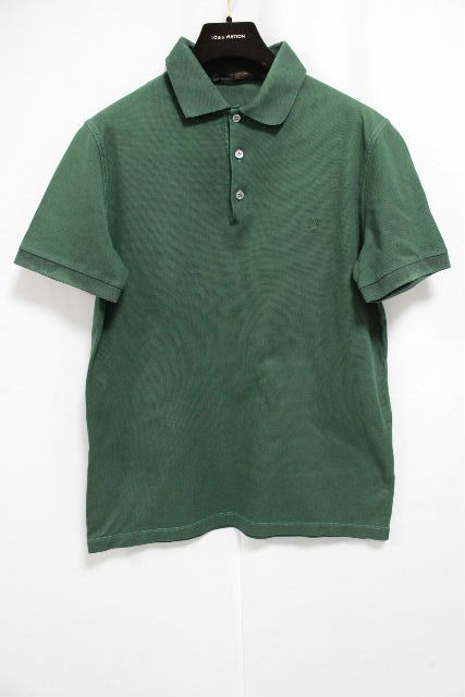 ルイヴィトン [ LOUISVUITTON ] LV ポロシャツ グリーン 半袖 SIZE[S] メンズ トップス カットソー ヴィトン ビトン