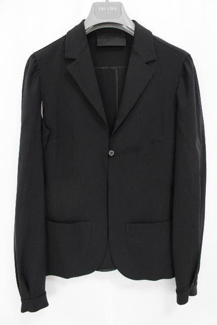 プラダ [ PRADA ] ストレッチ シャツ ジャケット ブラック 黒 SIZE[42] レディース トップス アウター