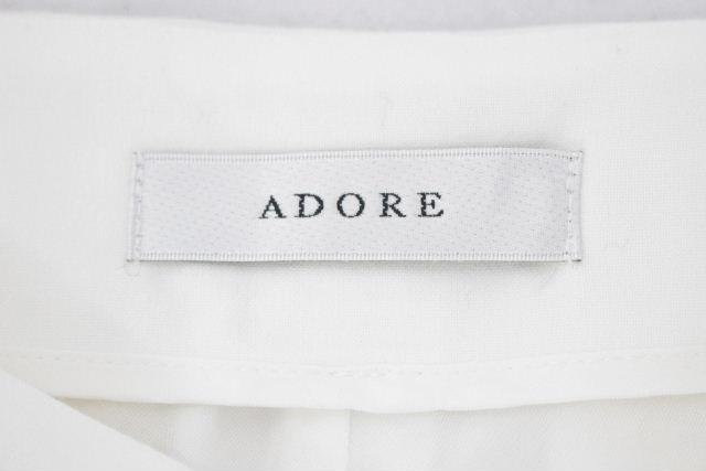 アドーア [ ADORE ] テーパードパンツ ホワイト 白 SIZE[38] レディース ボトムス ウールパンツ