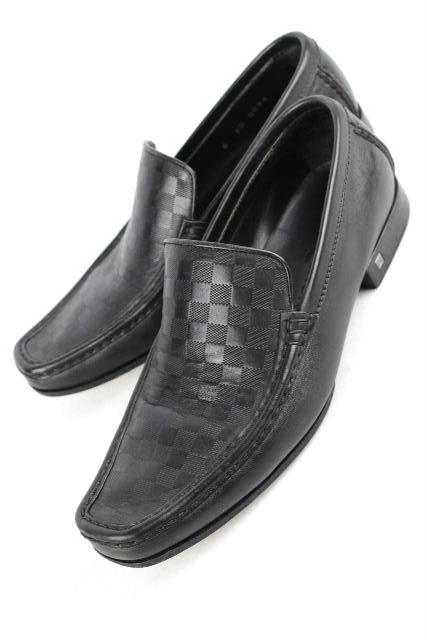 ルイヴィトン [ LOUISVUITTON ] ダミエ レザー ローファー ブラック 黒 SIZE[6] メンズ シューズ ヴィトン ビトン 革靴