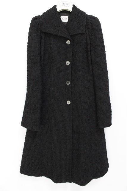 アルマーニ [ ARMANI ] ベルト ウール ロングコート ブラック 黒 SIZE[42] レディース アウター コート