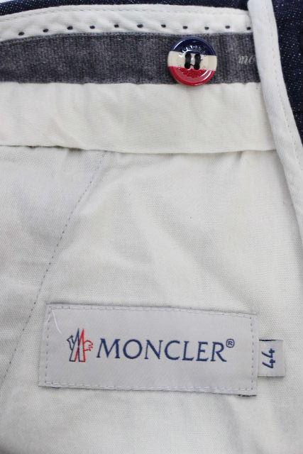 モンクレール [ MONCLER ] トリコロール デニムパンツ SIZE[44] メンズ ボトムス クロップドパンツ テーパードパンツ