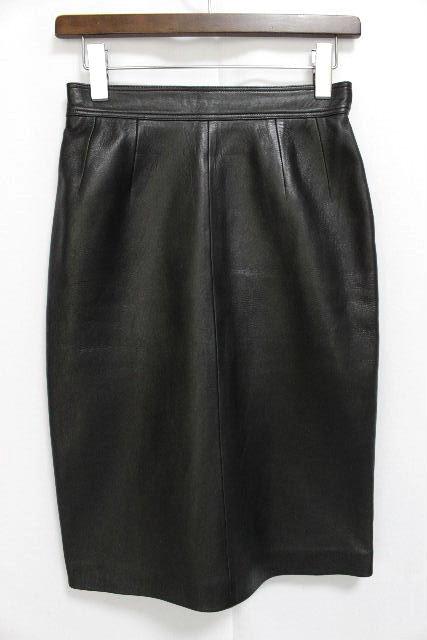 ロエベ [ LOEWE ] 最高級 ラムレザー スカート ブラック 黒 SIZE[40] レディース ボトムス