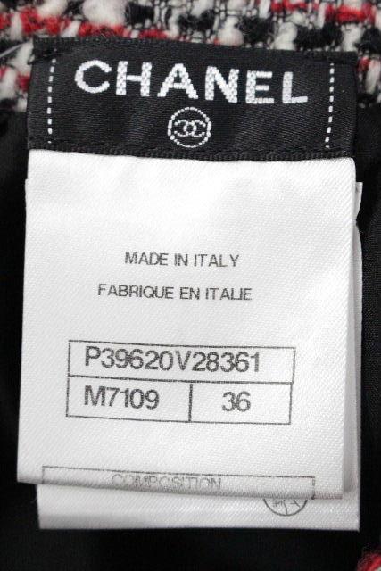 シャネル [ CHANEL ] P39 フリンジ ツイード タイトスカート レッド系 SIZE[36] レディース ボトムス スカート 赤系