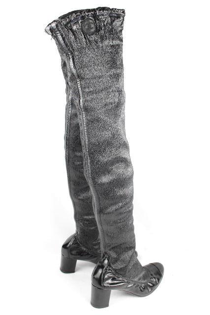 シャネル [ CHANEL ] ココマーク ニーハイブーツ ブラック 黒 SIZE[36] レディース ロングブーツ