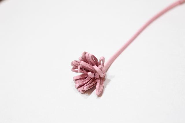 エルメス [ HERMES ] カルメンチータ ブックマーク ピンク シルバー金具 しおり チャーム