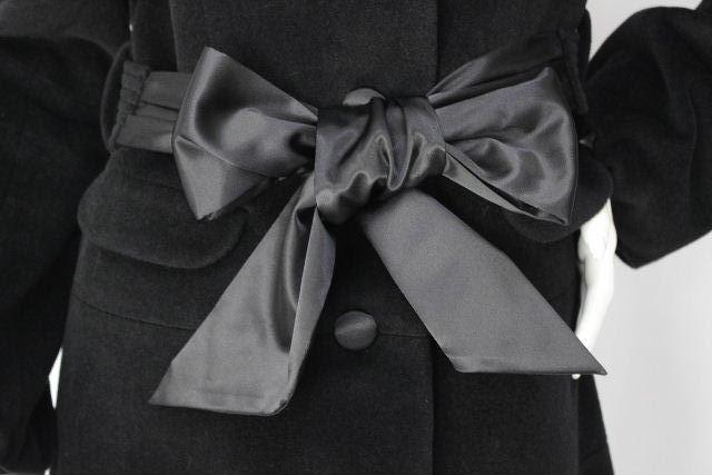 トゥービーシック [ TOBECHIC ] フォックスファー リボン ロングコート ブラック SIZE[40] レディース アウター コート