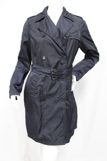 プラダ [ PRADA ] ベルト ナイロン トレンチコート ネイビー 紺色 SIZE[M] レディース アウター コート