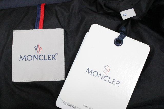 モンクレール [ MONCLER ] 18-19AW ファー フード ダウンジャケット ネイビー SIZE[2] メンズ アウター 紺色 [ マルク/MARQUE ]