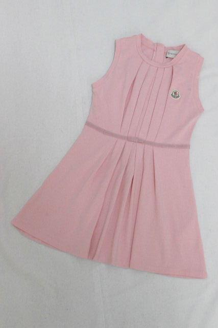 モンクレール [ MONCLER ] ワッペン リボン フレアー ワンピース ピンク SIZE[6 116cm] キッズ 子供用 女の子 ワンピ