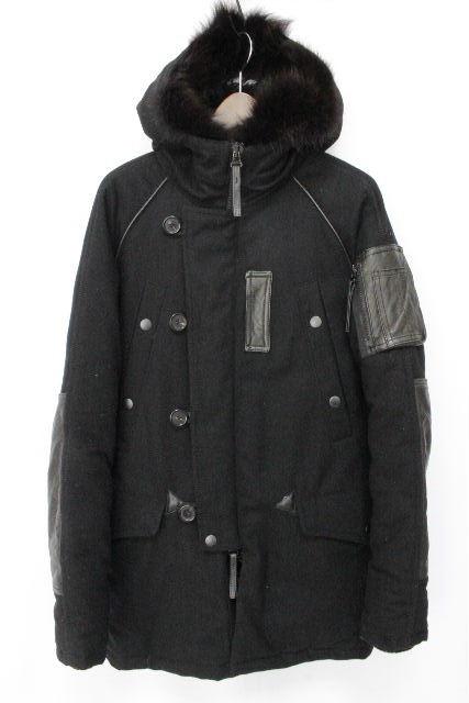 デュベティカ [ AKM×DUVETICA ] ファー フード ダウンコート ブラック 黒 SIZE[S] メンズ ダウンジャケット N3-B